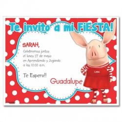 c0258 - Birthday invitations - Piggy