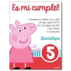 c0262 - Birthday invitations - Piggy