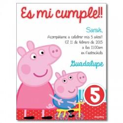 c0263 - Birthday invitations - Piggy