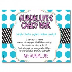 c0264 - Birthday invitations - Candy bar