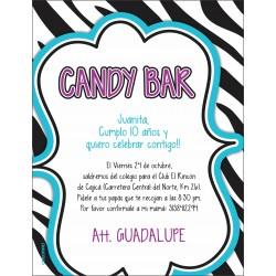 c0265 - Invitaciones de cumpleaños - Candy Bar