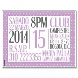 c0267 - Birthday invitations - 15 years
