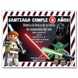 c0268 - Invitaciones de cumpleaños - Lego Star Wars