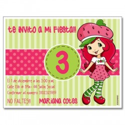 c0273 - Birthday invitations - Strawberry Shortcake