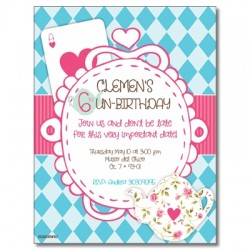 c0282 - Birthday invitations - Alice in wonderland
