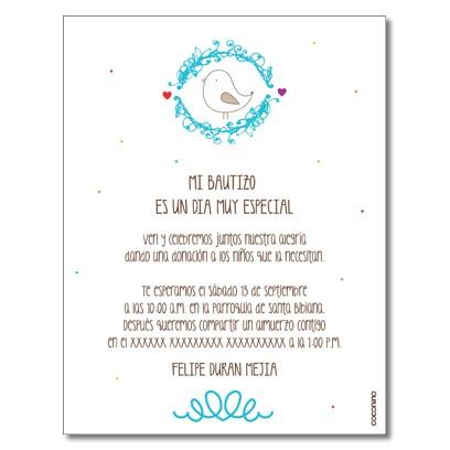 Invitaciones de Bautizo