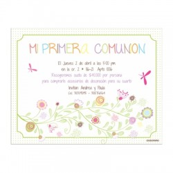b0104 - Invitations - First communion
