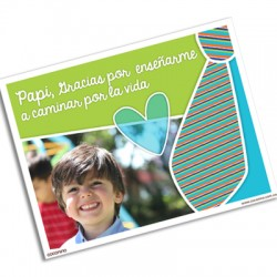pm0007 - Photo postcard - Father