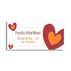 ea0007 - Self-adhesive labels - hearts