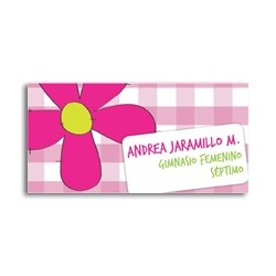 ea0013 - Etiquetas autoadhesivas - flores