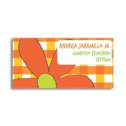 ea0014 - Self-adhesive labels - flowers