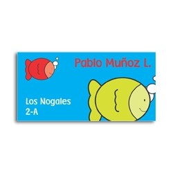 ea0015 - Self-adhesive labels - fishes
