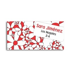 ea0017 - Self-adhesive labels - Flowers