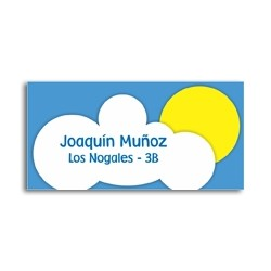 ea0065 - Self-adhesive labels - Clouds