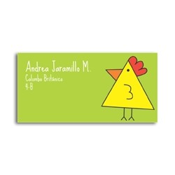 ea0076 - Self-adhesive labels - Chicken