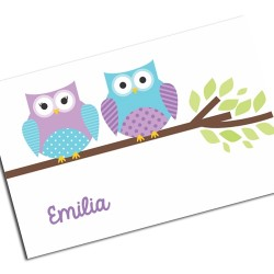 i0108 - Placemat - Owls