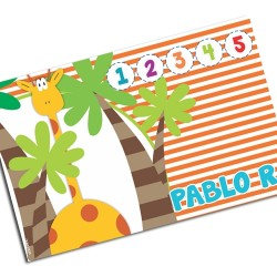 i0103 - Paper Placemat - Giraffe