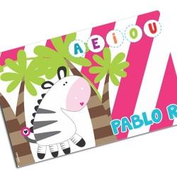 i0107 - Paper Placemat - Zebra
