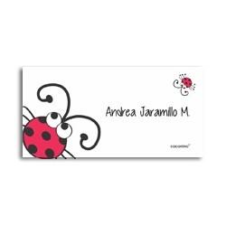 ea0026 - Self-adhesive labels - ladybug