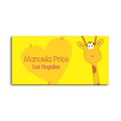 ea0041 - Self-adhesive labels - Giraffe