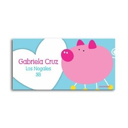 ea0057 - Self-adhesive labels - Pig