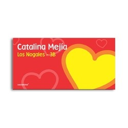 ea0062 - Self-adhesive labels - Heart