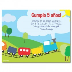 c0017 - Invitaciones de cumpleaños - Tren