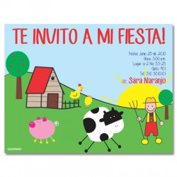 c0071 - Invitaciones de cumpleaños - Granja