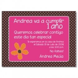 c0003 - Invitaciones de cumpleaños - Flores.