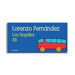 ea0044 - Etiquetas autoadhesivas - Bus
