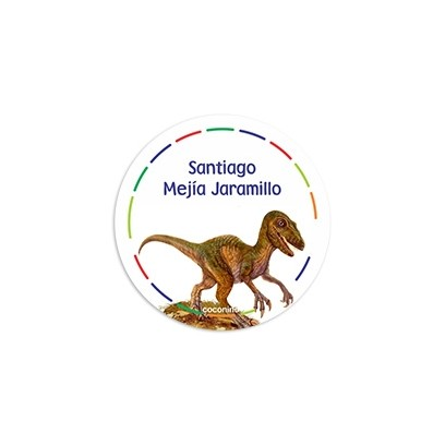 1f18be667dd77 EAR0010 - Etiquetas autoadhesivas redondas - Dinosaurios