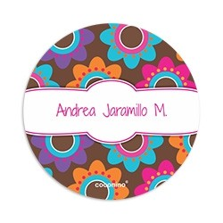 EAR0049 - Round adhesive labels - Flowers