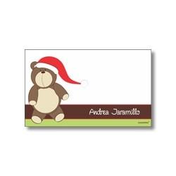 Tarjeta de navidad - Oso de peluche