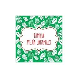 Tarjeta de navidad - familia hojas