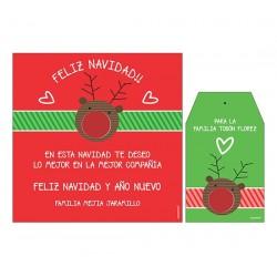 Bolsa, etiqueta y tarjeta para vino - Reno