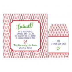 Bolsa, etiqueta y tarjeta para vino - Árbol de navidad