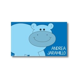 p1008 - Tarjetas de presentación - hipopótamo