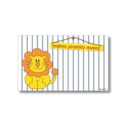 Label cards - lion