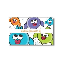 Label cards - fishes