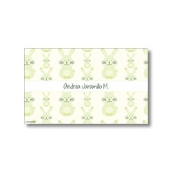 p1410 verde - Tarjetas de presentación -  Conejos