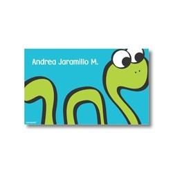 p2108 azul - Tarjetas de presentación - Serpiente