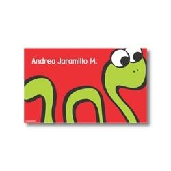 p2108 rojo - Tarjetas de presentación - Serpiente