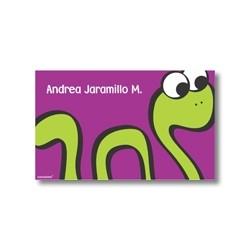 p2108 violeta - Tarjetas de presentación - Serpiente