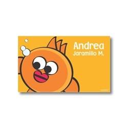 p2207 Naranja - Tarjetas de presentación - Peces