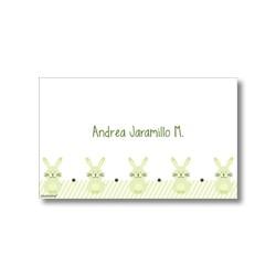p2305 verde - Tarjetas de presentación - Conejos