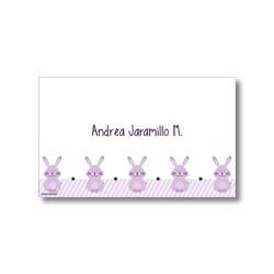 p2305 violeta - Tarjetas de presentación - Conejos