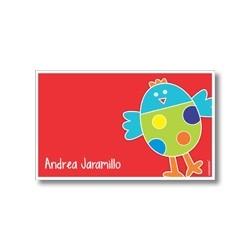 p2505 rojo - Tarjetas de presentación - Pájaro
