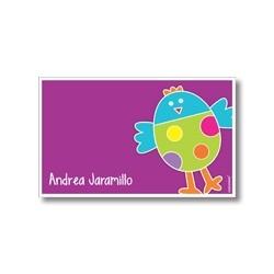 p2505 violeta - Tarjetas de presentación - Pájaro