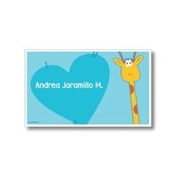 p2810 azul - Tarjetas de presentación - Jirafa