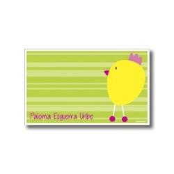 p2909 verde - Tarjetas de presentación - Pollito
